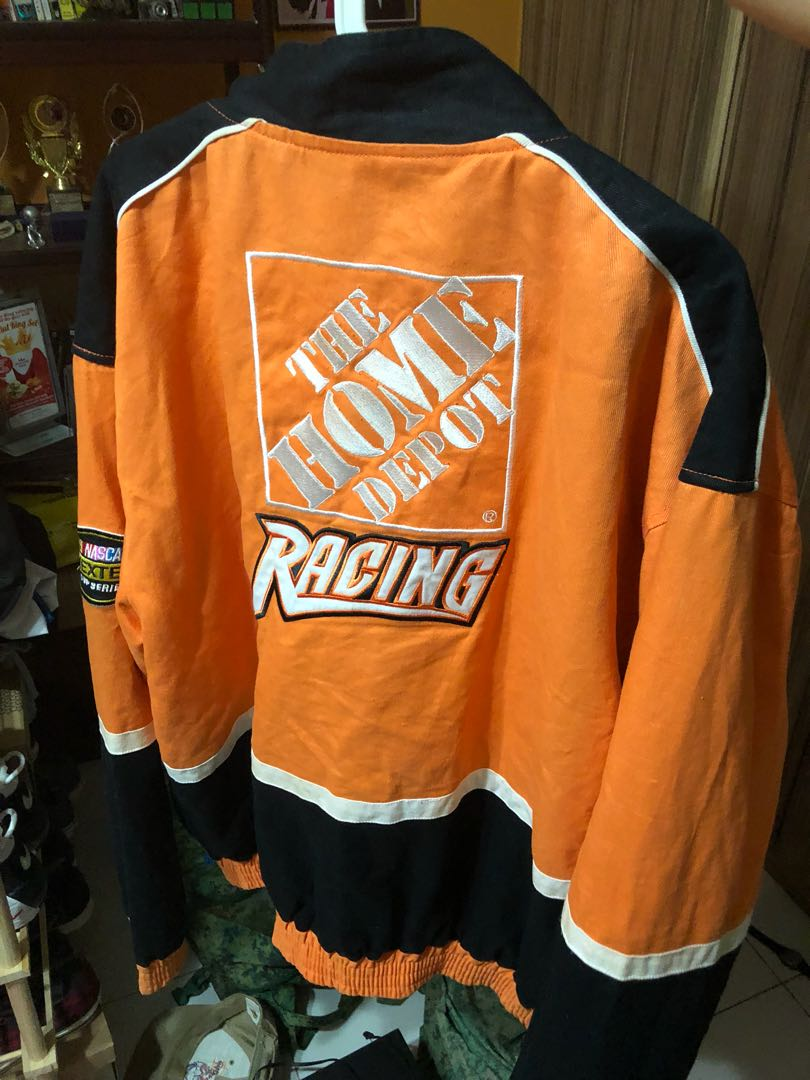49b2ac2abe2 Vintage Home Depot racing jacket, Men's Fashion, Clothes, Tops on Carousell