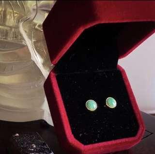 💯Grade A Classic Green Jadeite Earstuds
