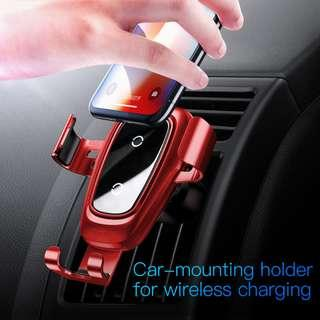 BASEUS Metal Gravity Holder Wireless Charger (Air vent)
