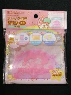 (包郵) Twin Stars Zipper Bag 密實袋 密封袋 封口袋 自封袋 7x10cm 20個 購自日本