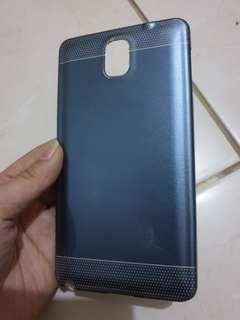 Samsung Note3 case metallic blue