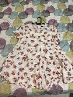 f21 floral babydoll top