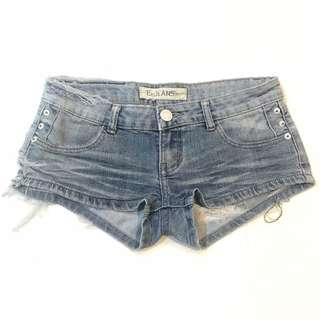 Ripped Wash Acid Denim Shorts Jeans Hot Pant
