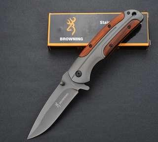 Browning DA43 Folding knife 3Cr13 Blade Rosewood Handle Titanium Tactical Knife Pocket Camping Tool fast open Hunting Knife Survival Knife
