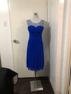 FOR RENT: ROYAL BLUE DRESS for party and events