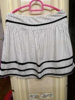 Polkadot Black & White Skirt