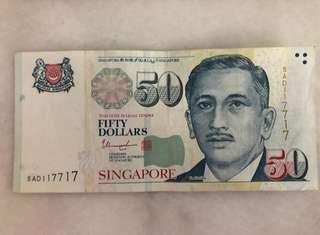 117717 Lucky Note $50