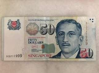 999 Lucky Note $50
