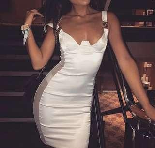 Meshki Klara White Dress