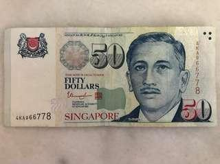 66778 Lucky Note $50
