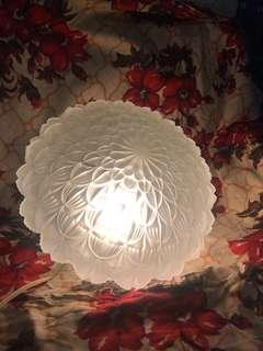 60s Lotus flower glass ceiling lamp
