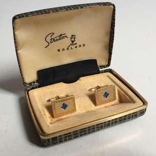 Vintage Early 70s Gold Plated Cufflinks