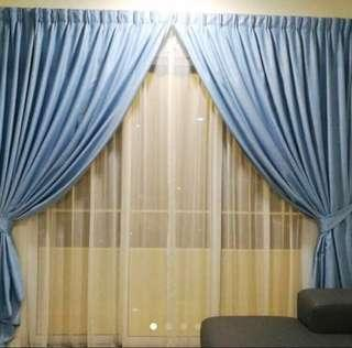 [Super Good Quality] Light Blue Curtain