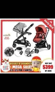 Unilove Stroller / Baby Pram
