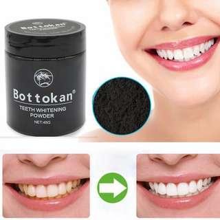 🚚 👄贈牙刷2買一送一 Bottokan原廠 竹炭牙粉 活性碳美白潔牙粉 竹炭潔牙粉 授權 潔牙粉 牙刷粉 美白