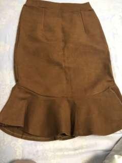 🚚 咖啡色 魚尾裙