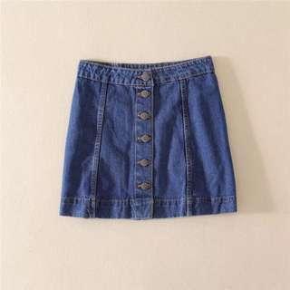 🚚 Po: denim button down highwaisted skirt