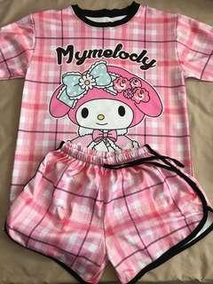 🚚 My Melody shorts set