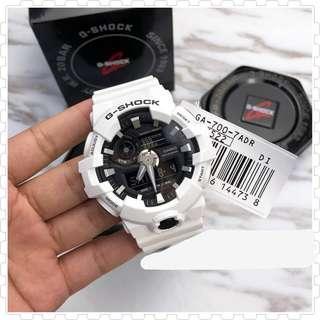 ☃️☃️FREE DELIVERY Casio Gshock GA700 White Unisex Digital Watch 100% Authentic Brand NEW IN BOX