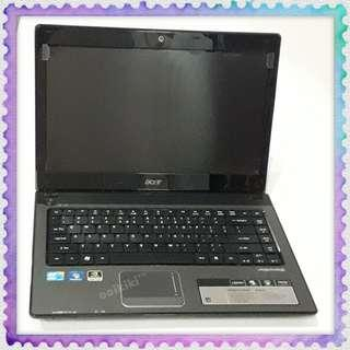 """Acer 4741G 14"""" laptop silver intel core i5 nvidia Dvd drive free screen protector"""