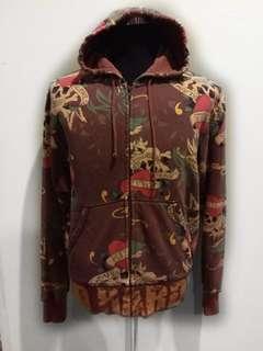 Ed Hardy Fullprint hoodie zipper sweatshirt