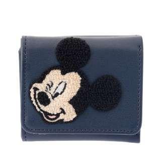 🌟日本Disney store直送🌟米奇 Mickey  公仔 pu皮 針織 三摺短銀包