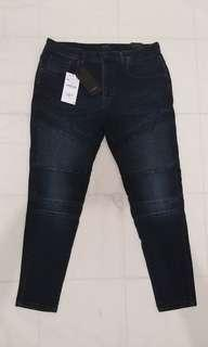 Zara Skinny Navy Blue Biker Jeans Original size 34