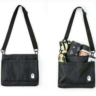 Bape sling bag black
