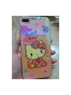 🚚 IPhone 7/8plus Kitty藍光鏡面手機殼 (可使用掛繩)