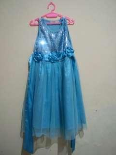 Frozen blue dress #momjualan #jualanibu