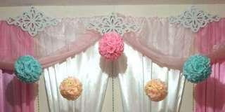 Flower / Rosette / Pomander Ball Decorations for Sale!