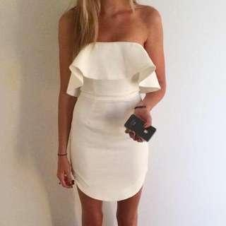 White strapless dress