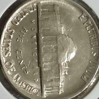 Rare 1983 USA (P)  Five Cents With Error On Lettering