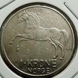 1972 1 Krone Norge Coin