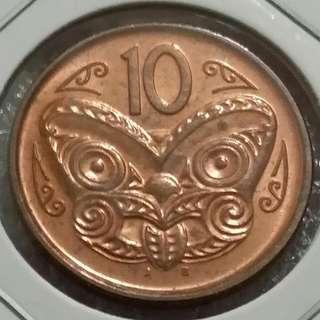 New Zealand 10 Cents Coin