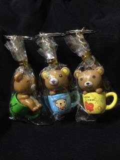 [NEW] Bear in a Cup Keychain