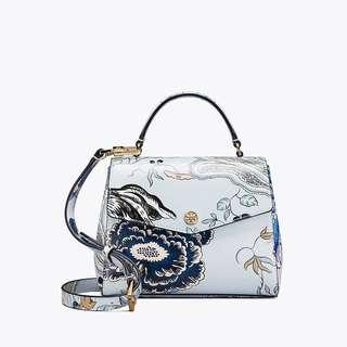 ON HAND: Authentic Tory Burch ROBINSON FLORAL SMALL TOP-HANDLE SATCHEL