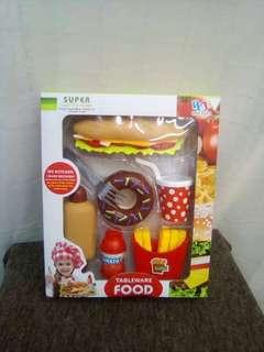 Kiddy Toy Table Ware Food Good Quality