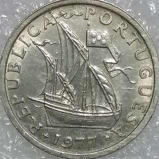 1977 Republica Potuguesa Coin
