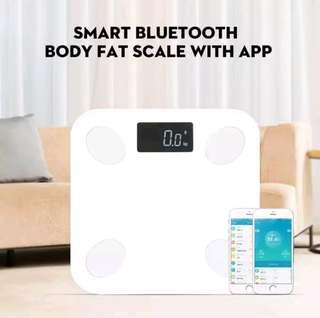 Smart Bluetooth Body Fat Scale With App Body Weight Muscle Water Fat BMI Scale Bluetooth