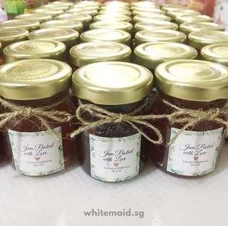 Mini Jam Filled Jar 45ml Wedding Favor Corporate Gift