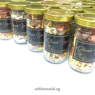 Assorted Cocktail Nuts Filled Jar Wedding Favor Corporate Gift
