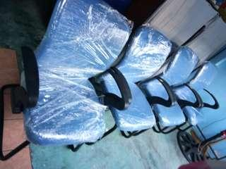 Light blue visitors chair