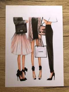 Designer A4 Laminated Print