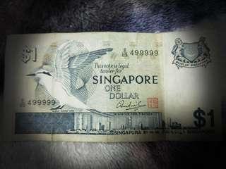 Super rare $1Black - Naped Tern version