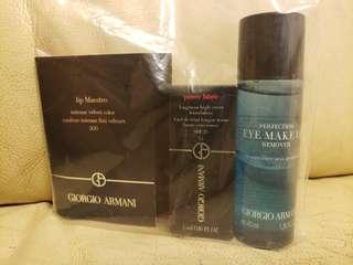 Giorgio Armani Makeup Travel Set (lip balm, foundation & eye makeup remover)