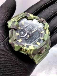 * FREE DELIVERY * Brand New 100% Authentic Casio GShock Green Camo Mens Casual Watch GA-700CM-3ADR GA700CM