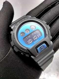 * FREE DELIVERY * Brand New 100% Authentic Casio GShock Matt Black & Blue Mirror Dial Digital Mens Watch DW-6900BBMA-2DR DW6900 DW6900BBMA