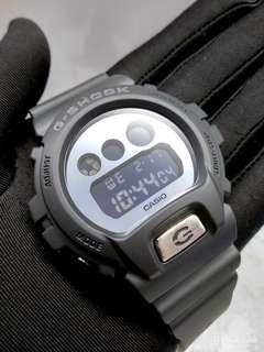 * FREE DELIVERY * Brand New 100% Authentic Casio GShock Matt Black & Silver Mirror Dial Mens Casual Watch DW-6900BBMA-1DR DW6900 DW6900BBMA