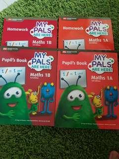 P1 math 1A & 1B text & workbook